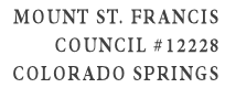 Mount St. Francis Council #12228